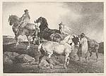 Horses Driven to a Fair