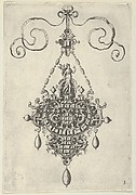 Pendant Design with Pax Standing Before an Arch