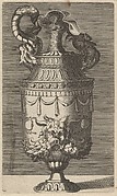 Vase with a Mask, Garlands and Two Crabs