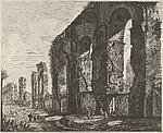 View of Nero's aqueduct, Rome