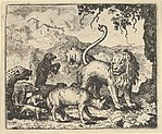 Renard is Accused by the Wolf and Several Animals from Hendrick van Alcmar's Renard The Fox