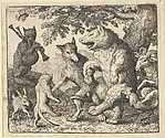 A Party in Honor of the Bear and the Wolf from Hendrick van Alcmar's Renard The Fox