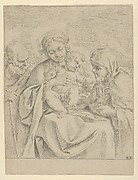 The Holy Family with Saint Clare, counterproof