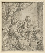 The Virgin and Child at a table with the young John the Baptist