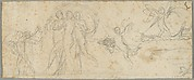 The Three Graces and Putti; verso: Various Studies