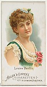 Louise Paullin, from World's Beauties, Series 1 (N26) for Allen & Ginter Cigarettes