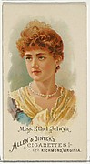 Miss Ethel Selwyn, from World's Beauties, Series 1 (N26) for Allen & Ginter Cigarettes