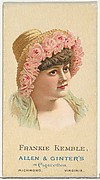 Frankie Kemble, from World's Beauties, Series 2 (N27) for Allen & Ginter Cigarettes
