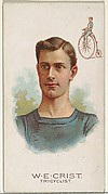 W.E. Crist, Tricyclist, from World's Champions, Series 2 (N29) for Allen & Ginter Cigarettes