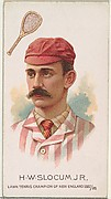 H.W. Slocum, Jr., Lawn Tennis Champion of New England 1887/88, from World's Champions, Series 2 (N29) for Allen & Ginter Cigarettes
