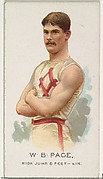 W.B. Page, High Jump, from World's Champions, Series 2 (N29) for Allen & Ginter Cigarettes