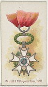 The Cross of the Legion of Honor, France, from the World's Decorations series (N30) for Allen & Ginter Cigarettes