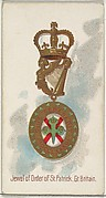 Jewel of the Order of St. Patrick, Great Britain, from the World's Decorations series (N30) for Allen & Ginter Cigarettes