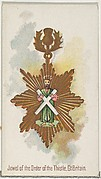 Jewel of the Order of the Thistle, Great Britain, from the World's Decorations series (N30) for Allen & Ginter Cigarettes
