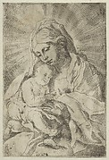 The Virgin holding the infant Christ, after Reni