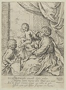 The Virgin and Child at a table with the young John the Baptist, after Reni