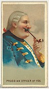 Prussian Officer of 1725, from World's Smokers series (N33) for Allen & Ginter Cigarettes