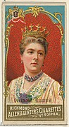 Queen of Belgium, from World's Sovereigns series (N34) for Allen & Ginter Cigarettes