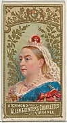 Queen of England, from World's Sovereigns series (N34) for Allen & Ginter Cigarettes