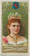 Queen of Holland, from World's Sovereigns series (N34) for Allen & Ginter Cigarettes
