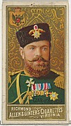 Czar of Russia, from World's Sovereigns series (N34) for Allen & Ginter Cigarettes
