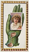 Card Number 6, cut-out from banner advertising the Opera Gloves series (G29) for Allen & Ginter Cigarettes