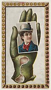 Card Number 11, cut-out from banner advertising the Opera Gloves series (G29) for Allen & Ginter Cigarettes
