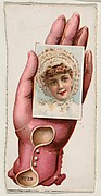 Card Number 19, cut-out from banner advertising the Opera Gloves series (G29) for Allen & Ginter Cigarettes