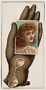 Card Number 23, cut-out from banner advertising the Opera Gloves series (G29) for Allen & Ginter Cigarettes
