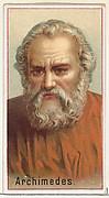 Archimedes, printer's sample for the World's Inventors souvenir album (A25) for Allen & Ginter Cigarettes