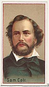 Samuel Colt, printer's sample for the World's Inventors souvenir album (A25) for Allen & Ginter Cigarettes