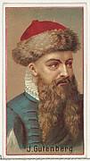 Johannes Gutenberg, printer's sample for the World's Inventors souvenir album (A25) for Allen & Ginter Cigarettes