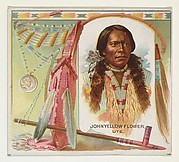 John Yellow Flower, Ute, from the American Indian Chiefs series (N36) for Allen & Ginter Cigarettes