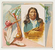 Spotted Tail, Blackfeet Sioux, from the American Indian Chiefs series (N36) for Allen & Ginter Cigarettes