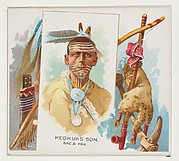 Keokuk's Son, Sac & Fox, from the American Indian Chiefs series (N36) for Allen & Ginter Cigarettes