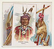 Deer Ham, Ioway, from the American Indian Chiefs series (N36) for Allen & Ginter Cigarettes