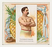Theobaud Bauer, Graeco-Roman Wrestler, from World's Champions, Second Series (N43) for Allen & Ginter Cigarettes
