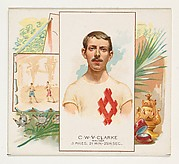 C.W.V. Clarke, Walker, from World's Champions, Second Series (N43) for Allen & Ginter Cigarettes