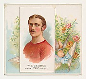 W.G. George, Runner, from World's Champions, Second Series (N43) for Allen & Ginter Cigarettes