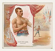 Jack McGee, Pugilist, from World's Champions, Second Series (N43) for Allen & Ginter Cigarettes