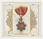 Imperial Order of the Medjidie, Turkey, from the World's Decorations series (N44) for Allen & Ginter Cigarettes