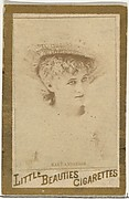 Mary Anderson, from the Actresses and Celebrities series (N60, Type 1) promoting Little Beauties Cigarettes for Allen & Ginter brand tobacco products