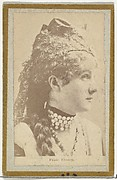 Venie Clancy, from the Actresses and Celebrities series (N60, Type 2) promoting Little Beauties Cigarettes for Allen & Ginter brand tobacco products