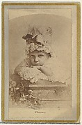 Florence, from the Actresses and Celebrities series (N60, Type 2) promoting Little Beauties Cigarettes for Allen & Ginter brand tobacco products