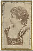Maud, from the Actresses and Celebrities series (N60, Type 2) promoting Little Beauties Cigarettes for Allen & Ginter brand tobacco products