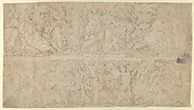 Drawing of a sarcophagus