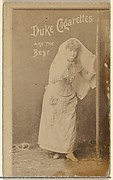 [Actress clothed in white], from the Actors and Actresses series (N145-6) issued by Duke Sons & Co. to promote Duke Cigarettes