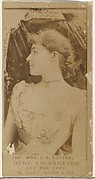 Card Number 750, Mrs. James Brown Potter, from the Actors and Actresses series (N145-7) issued by Duke Sons & Co. to promote Duke Cigarettes