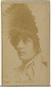 Miss Butler, from the Actors and Actresses series (N145-8) issued by Duke Sons & Co. to promote Duke Cigarettes