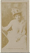 Florence Sutherland, from the Actors and Actresses series (N145-8) issued by Duke Sons & Co. to promote Duke Cigarettes